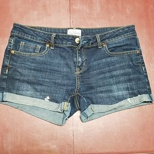 Dark Wash Jean Shorts
